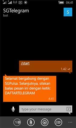 Telegram Trx Pulsa Murah