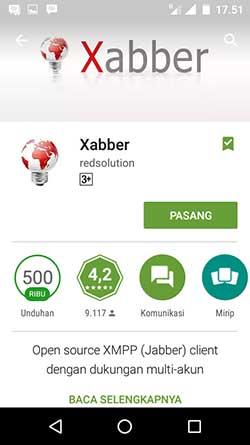 Aplikasi Xabber Jabber Android